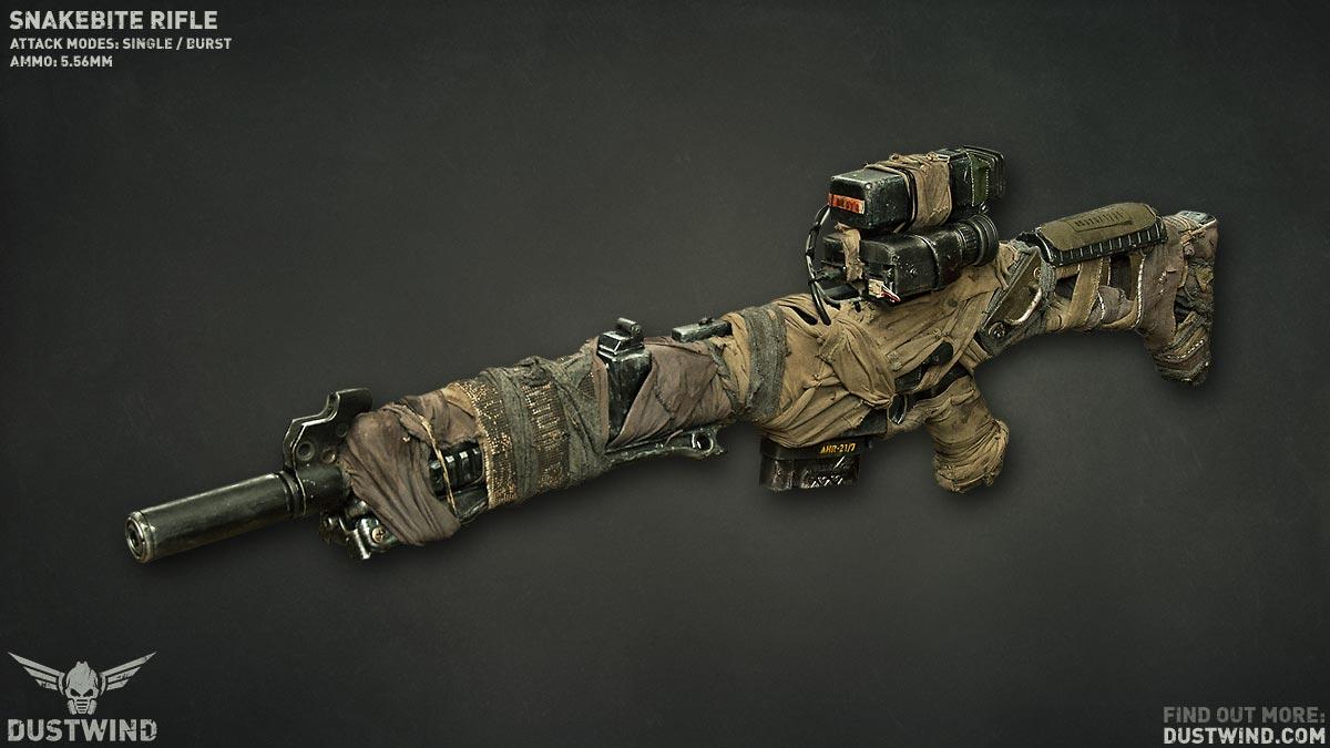 """Dustwind J-37 """"Snakebite"""" Rifle"""